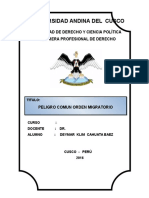 Peligro Comun Orden Migratorio