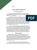 The Mathematical Intelligencer Volume 15, (2), 1993, pp. 13 – 26 A Visit to Hungarian Mathematics
