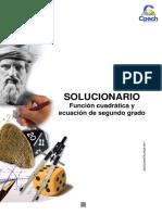 Solucionario Guía Práctica Función Cuadrática y Ecuación de Segundo Grado 2013
