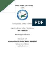El Control de Constitucionalidad de La Rep. Dominicana Trabajo Final