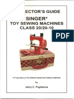 Collector's Guide for Singer Class 20 Toy Sewing Machines