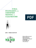 PROCEDURAL STANDARDS FOR CERTIFIED TESTING OF CLEANROOMS