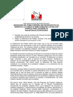 Observaciones de la Defensoria del Pueblo sobre las observaciones del Ejecutivo a la Ley de Consulta Previa