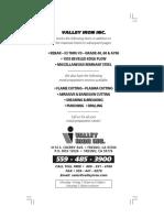 Valley Iron Weightbook