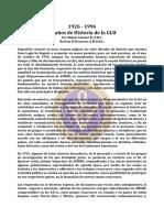 Historia de La Glh, 70 Años de - Jul97 - Rubén Colomo b., f.r.c.