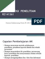 M1 - METODOLOGI  PENELITIAN