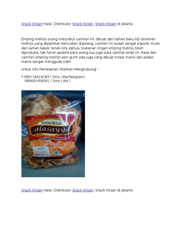 Snack Kiloan Halal Distributor Snack Kiloan Snack Kiloan Di Jakarta