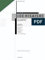 Joe Hisaishi - Quartet - Full Score