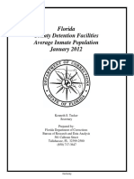 Florida County Detention Facilities Average Inmate Population