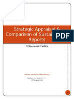 Strategic Appraisal & Comparison of Sustainability Reports