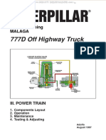 Manual Power Train Caterpillar 777d Off Highway Truck Components