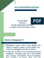 Delegation & Decentralization