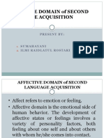 Affective Domain of Second Language1