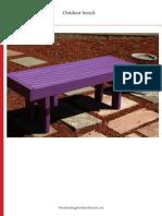 WWMM 2x4 Outdoor Bench