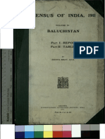 Census of India 1911, Baluchistan