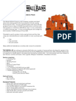 46 Brick Press Specification