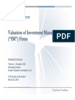 Valuation of IM Firms Presentation 3-26-13