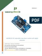 LM2596 DC-DC Adjustable Step-down Module With Digital Voltmeter