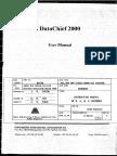 DataChief 2000 User Manual