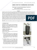 Designing and Fabrication of Compressed Air Engine