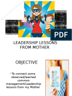Leadership From Mother