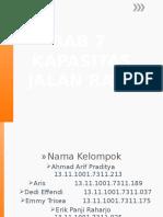 Bab 7 - Kapasitas Jalan Raya.pptx