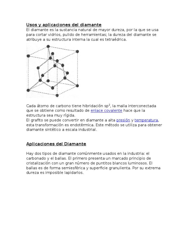 191484969 Usos Y Aplicaciones Del Diamante Y Grafito Docx