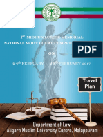 Travel Plan for Moot Court