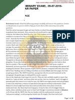 09-07-2016- Previous Year Paper) - TheTubeGURU
