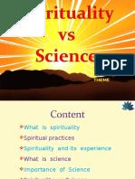 spirituality vsscience