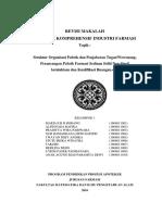PBL 1_Struktur Org, Desain Bangunan Dan Kualifikasi Ruangan