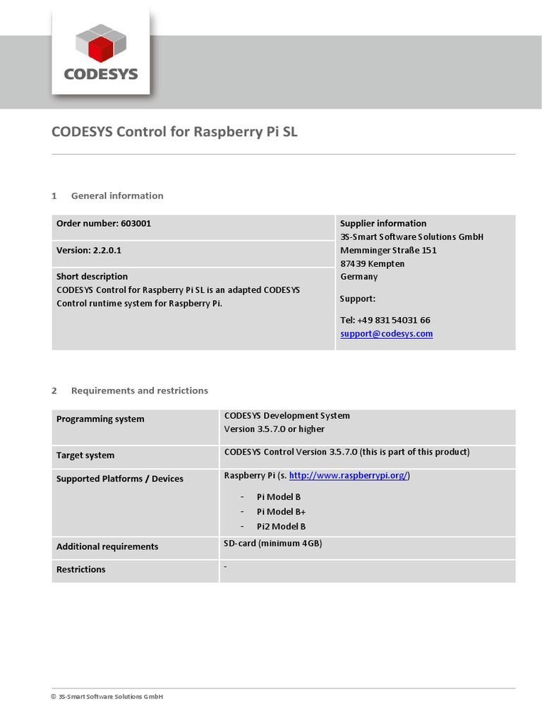 CODESYS Control for Raspberry Pi SL | Raspberry Pi | Programmable