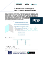 Two Port Parameters for Standard Networks - GATE Study Material in PDF
