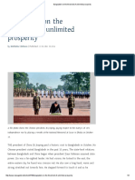 Bangladesh on the Thresholdof Unlimited Prosperity