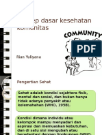 Konsep Dasar Kesehatan Komunitas