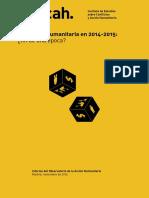 Informe Anual IECAH 2014-2015