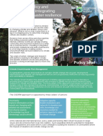Re-shaping Policy and Institutions for Integrating Climate and Disaster Resilience