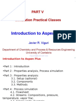 1.- Introduction to the Aspen Simulation Tool(1)