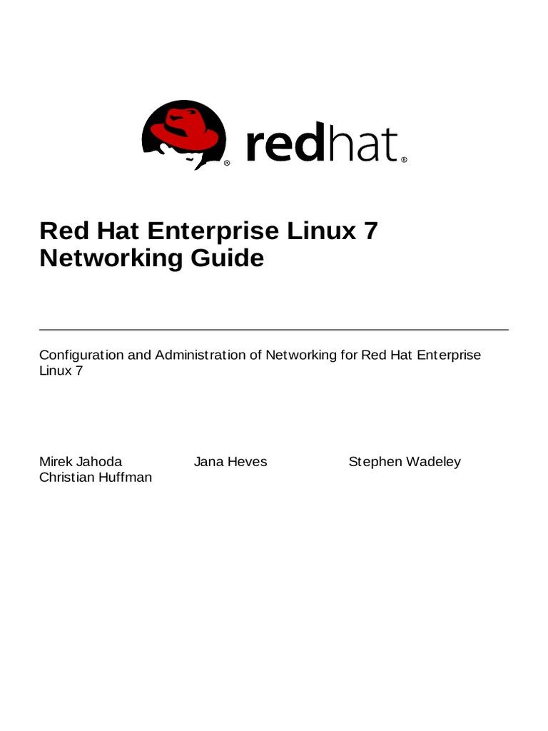 Red Hat Enterprise Linux Apte Networking Guide En Us Command Line Interface Computer Network
