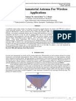 Design of Metamaterial Antenna For Wireless Applications