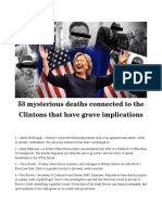 53 Mysterious Deaths Surrounding The Clintons