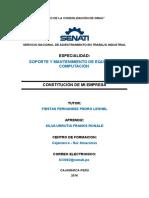 Constitución de La Empresa-RONALD