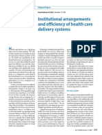 Vasanthakumar N. Bhat -- Institutional Arrangements and Efficiency of Health Care Delivery Systems
