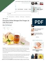 Kesehatan_ Perut Rata Dalam Hitungan Hari Dengan Air Jahe Plus Lemon - Editor_ Ivana Okta Riyani _ Vemale