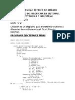 Vela Jair - Programa Calculadora