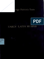 Early Latin Hymns