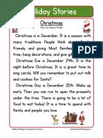 Holiday Stories Comprehension Christmas