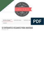12 Entrantes Veganos para Navidad | Delantal de Alces