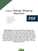 Mesin Sekrap (Shaping Machine)