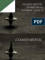 Examen Mental Informe y Entrevista Clinica